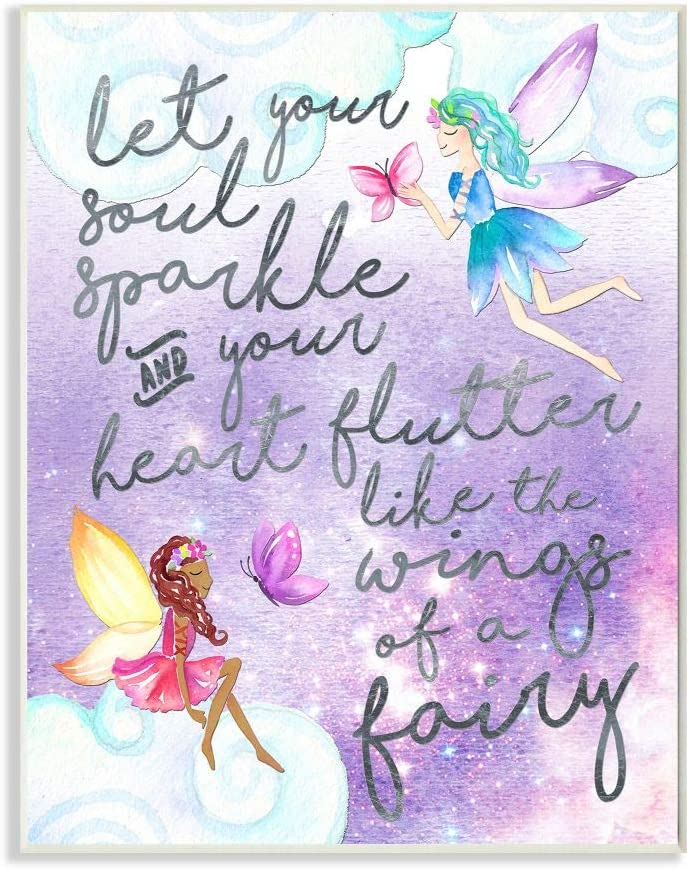 Stupell Industries Let Your Soul Sparkle Fairies Painting Wall Plaque, 10x15, Design By Artist Erica Billups