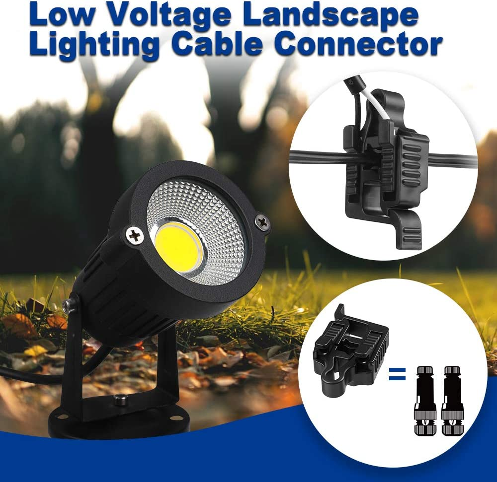 Antrees Low Voltage Wire Connectors Landscape Lighting Connector 12-18 Gauge UL Listed Cable Splice Connector for Landscape Lighting//Pathway Light//Spotlight Pack of 8
