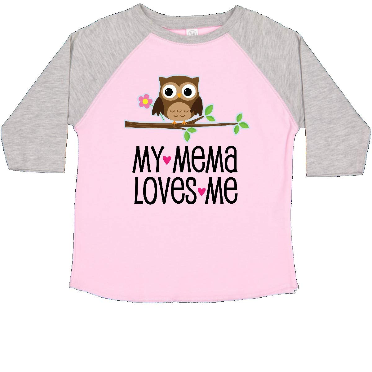 inktastic Mema Loves Me Girl Owl Toddler T-Shirt