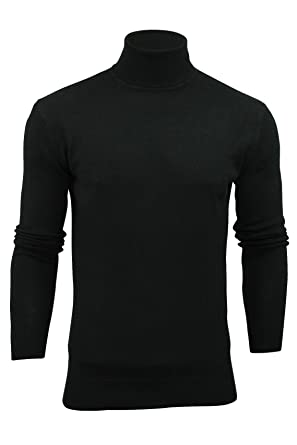6bf235d5f Mens Brave Soul Hume Designer Funnel High Roll Neck Cotton Knitted Jumper:  Amazon.co.uk: Clothing