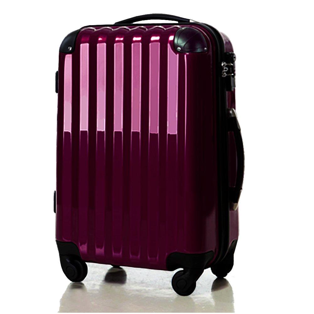 スーツケース大型超軽量LサイズTSAロック搭載 6202L アウトレット新品 B00N9SUDF2 パープル パープル