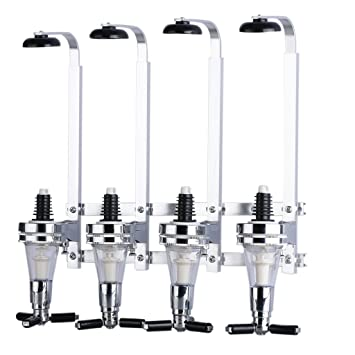Dispensador de Bebidas Licor Vino 4 Cabezas Dosificador (Acero Inoxidable Cabeza, Aleación Aluminio, Fuga de Agua, Asa Telescópica), Plata: Amazon.es: Hogar