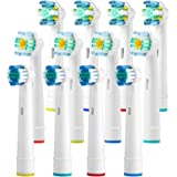 Replacement Toothbrush Heads Compatible With Oral B Braun Pro 3000 Pro 500, 1000, 3000, 5000, 6000, 7000, 8000