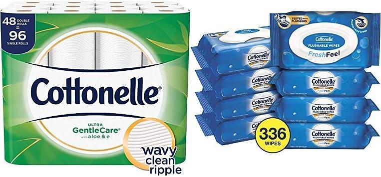 Cottonelle Aloe Toilet Paper 48 Double Rolls Ultra Gentle Care