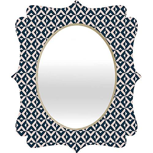 Deny Designs Khristian A Howell Nina In Pink And Navy Quatrefoil Mirror, Medium/28 x - Navy Mirror