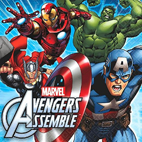 Marvel Avengers Lunch Napkins, 16 Count, Party Supplies (Avengers Custom Invitations)