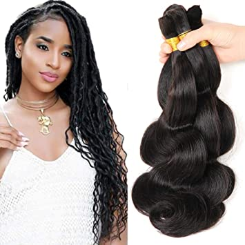 New 2016 Grade 7a Braids Bulk Human Hair Brazilian Bulk Hair For Braiding 3 Bundles Lot 300g 100 Human Hair Crochet Braids Bulk Hair Brazilian