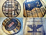 Create Your own rustic decor sign inspired by old whiskey barrel tops | Logo and message painted on a personalized sign | Custom Gifts | Living room, Home Bar decoration | Unique Husband, Dad Gift