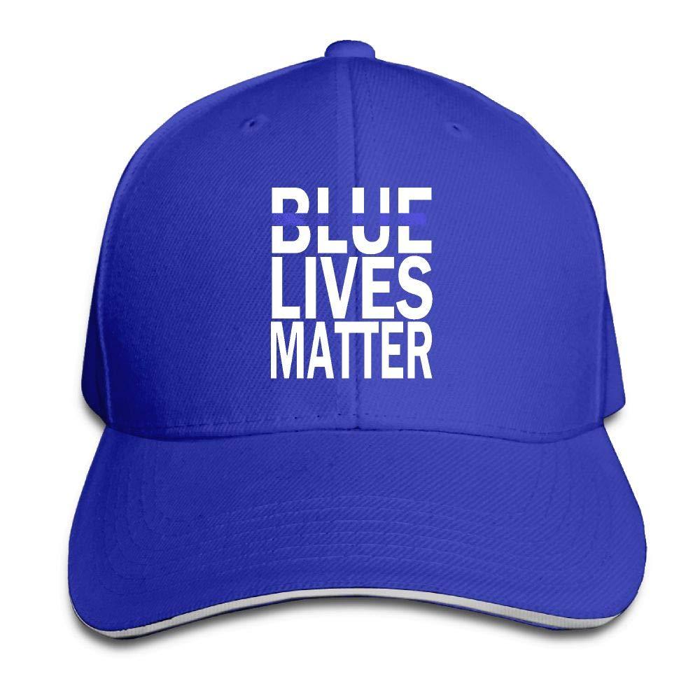 JustQbob1 Blue Live Matter Outdoor Snapback Sandwich Cap Adjustable Baseball Hat Plain Cap