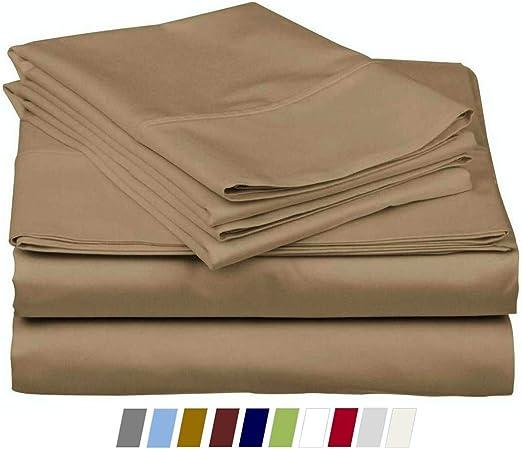 Juego de sábanas 100% algodón de percal, 4 piezas, tejido de ...