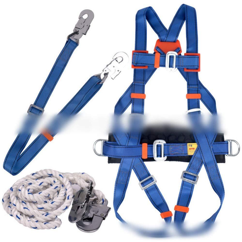 Nekovan 全身ハーネス登山航空作業電気技師クライミング用品抵抗レスキュー屋外 (色 : ブルー)  ブルー B07QXK8P74