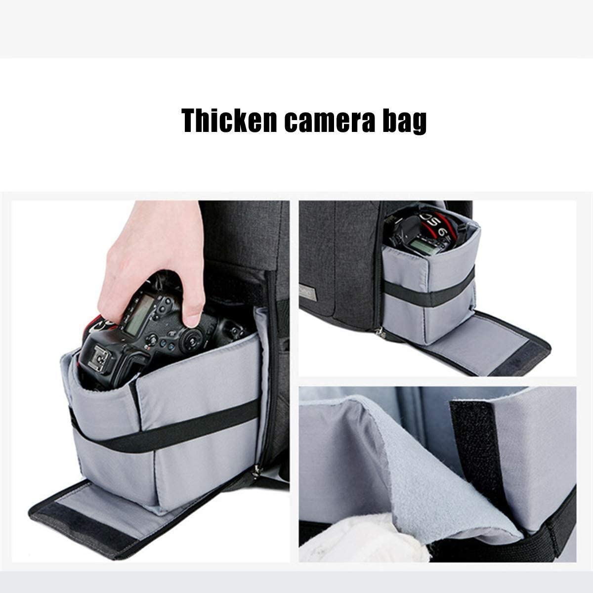 30 X 14 X 42 cm Black Well-Made Nuanxingjiafang Stylish Multi-Functional SLR Camera Bag for Camera Backpack Tripod and Lens