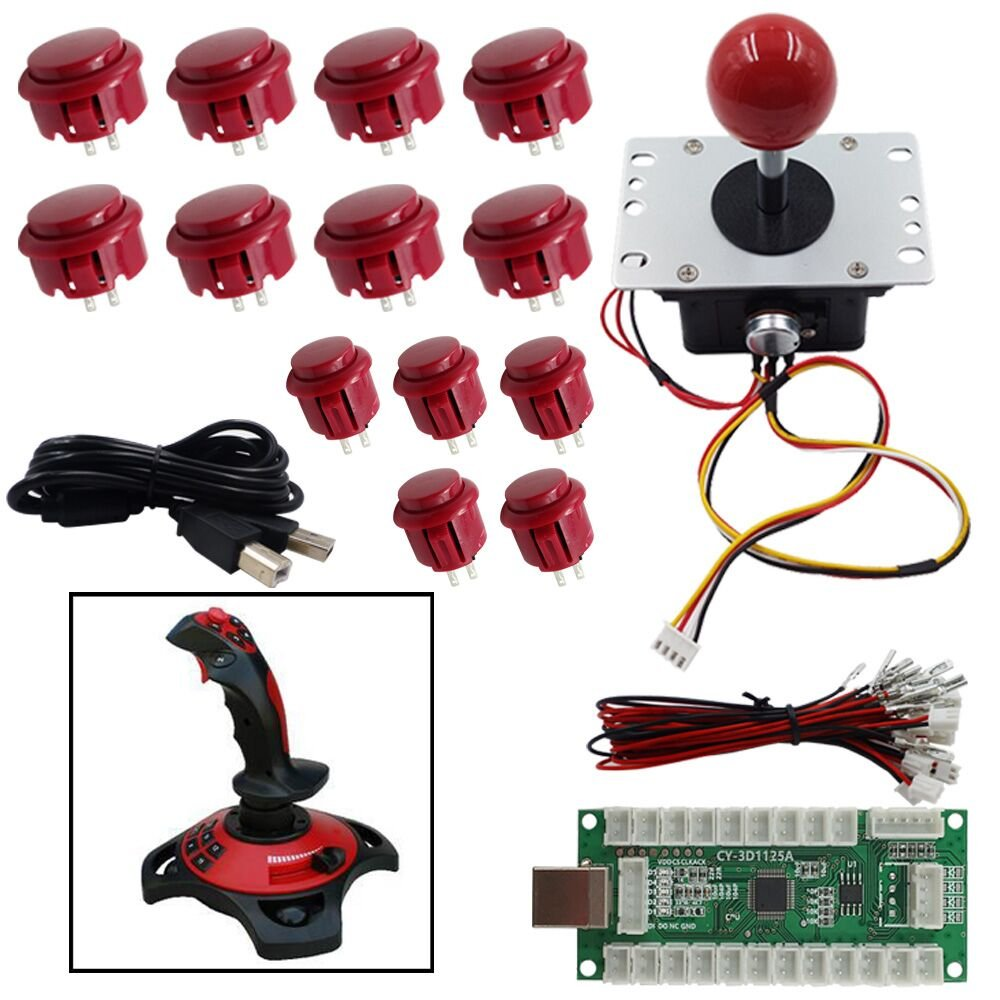 Flying Game Joystick Kits DIY Parts Arcade Game 3D Controller For PC PS3 Andriod Retropie Raspberry Pi MAME