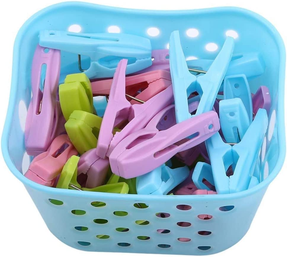 Color : Pink Kaimaily Storage Box 2 PCS Clothes Washing Pegs Multi-Function Laundry Underwear Socks Clothespins Windproof Travel Storage Clip
