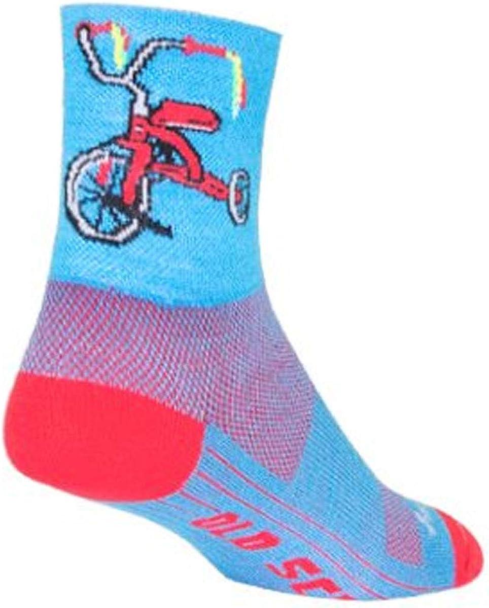 SockGuy Trike 4 in. Cycling Socks