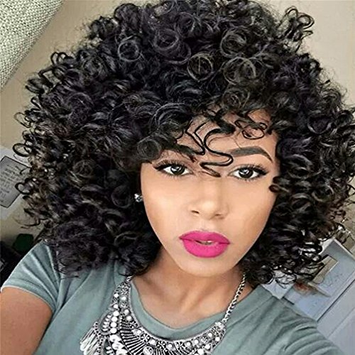 Birthday Gift!!! Jumberri Women Adjustable Gradient Color Haircut Wigs Short Human Hair Synthetic PS Wig Cap ()
