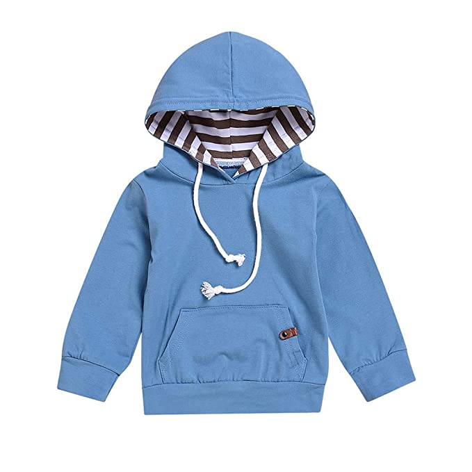 Amazon.com: Pollyhb Infant Baby Boys Girls Solid Hooded Tops Toddler Pullover Sweater Outfits: Clothing