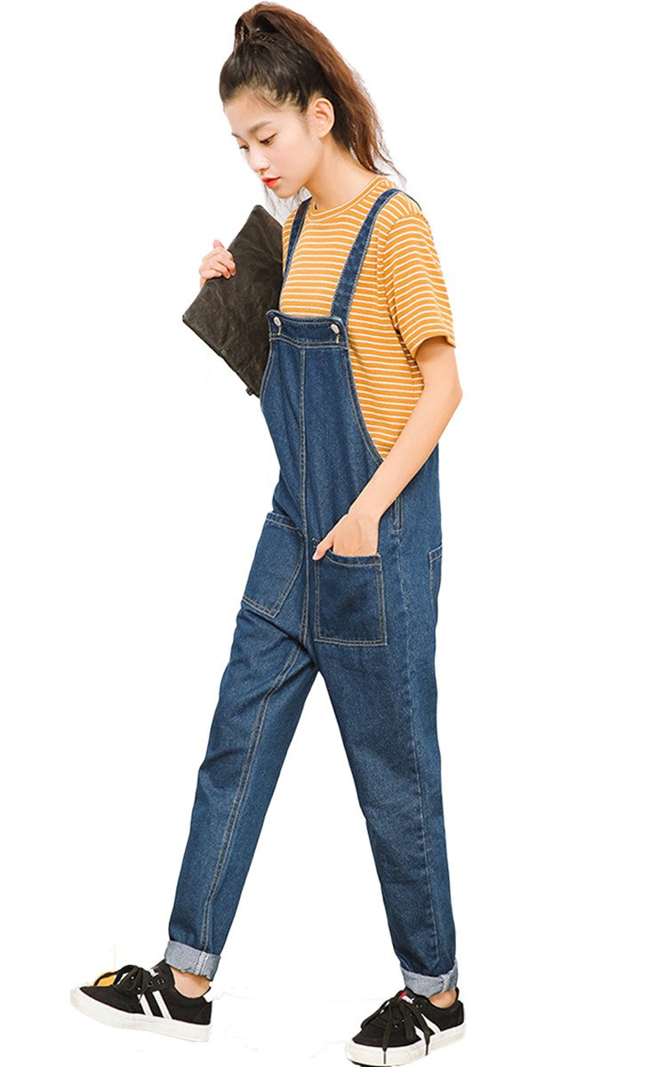 Haokty Damen Denim Jeans Overall damen Hose Jeanshosen