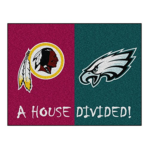 NFL House Divided - Redskins/Eagles Rug, 34