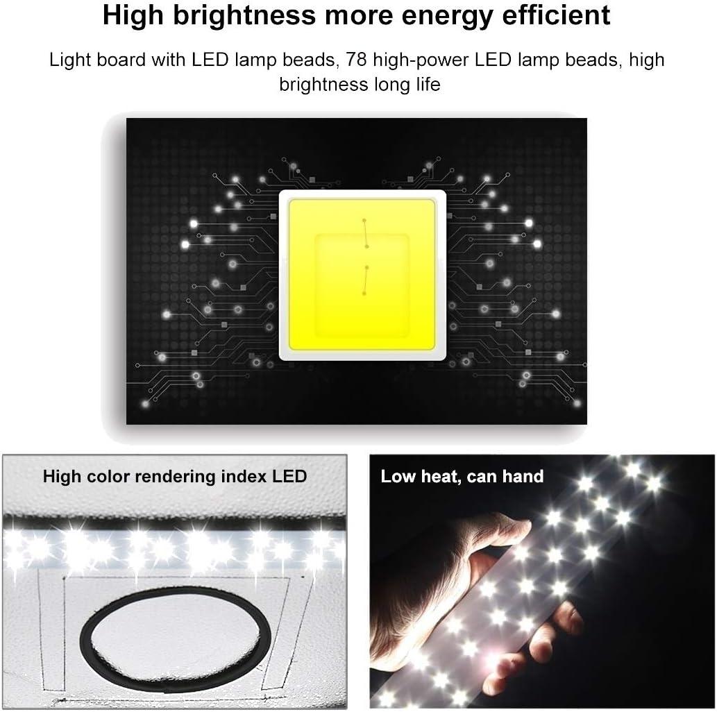 CellphoneMall LED Video Light 40W 4250LM 78 LEDs SMD 5730 5500K Aluminum Base Light Panel for 80cm Studio Tent