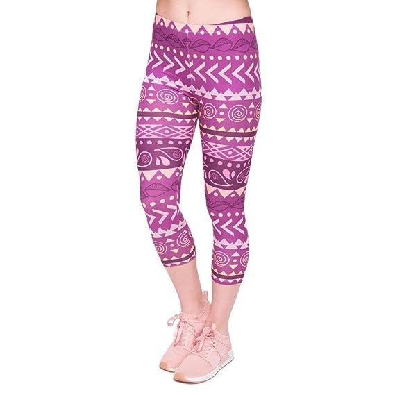 Pantalones De Yoga Verano Moda De para Mujer Leggings Capri ...