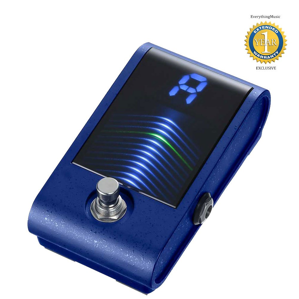 Korg Pitchblack Custom PBCS High-sensitivity Chromatic Pedal Tuner Blue with 1 Year Free Extended Warranty