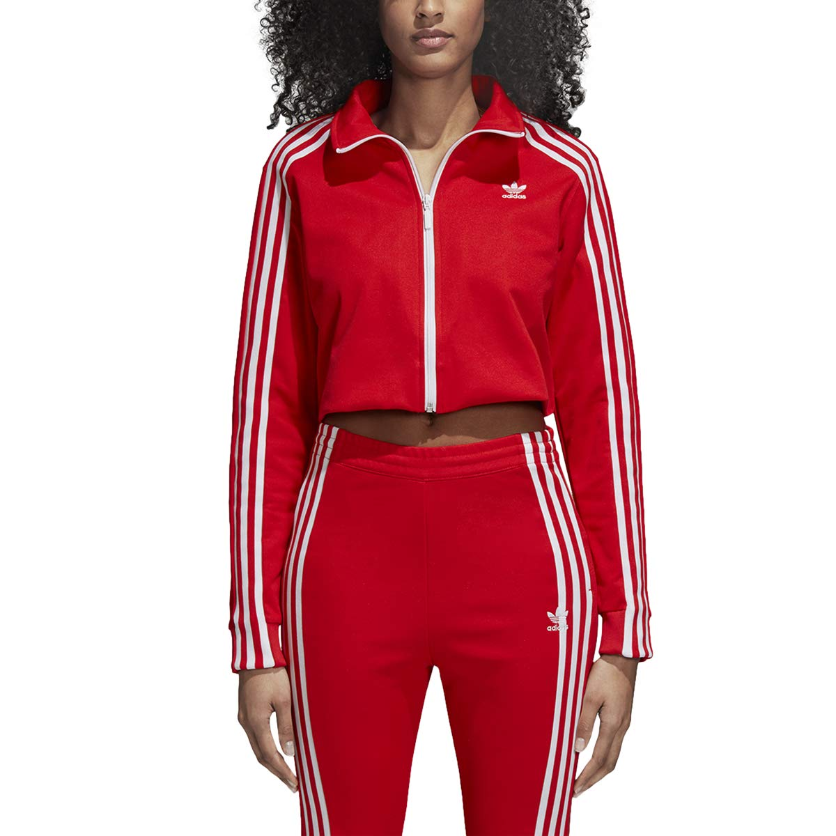 adidas Originals Womens's Superstar Tracktop (S, Red)