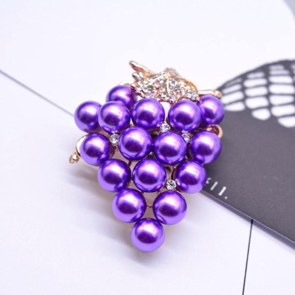MAFYU Brooch Pearl Grape Series Brooch Pin Accessories Christmas Clothing Accessories