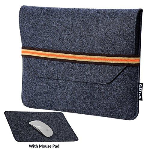 GIZGA 13.3 inch Protective Felt Laptop Sleeve Slate Grey Colour