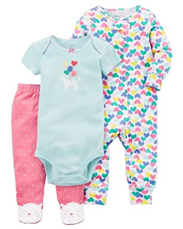 554536d2c Image Unavailable. Image not available for. Color: Carter's Baby Girl 3- Piece Kitty Sleep & Play Set Preemie