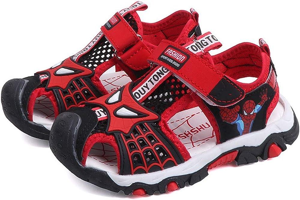 ANKIDS Fashion Kids Big Boys Closed Toe Spiderman Sandals