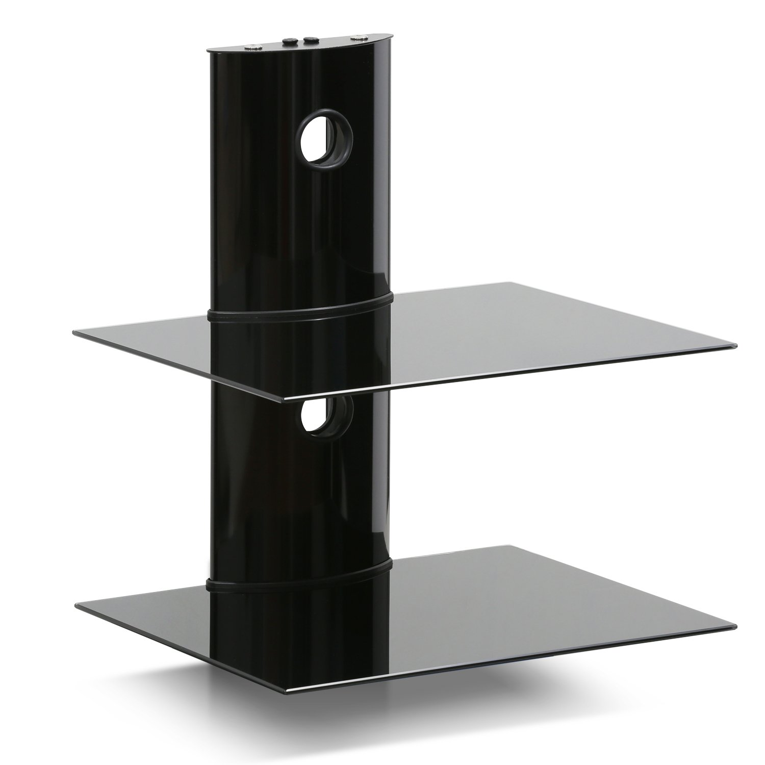 FURINNO Modern 2-Tier Floating Entertainment Wall Shelf