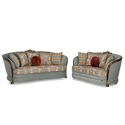 Durian Vintage and Imperial Cadence Fabric Sofa Set (Multicolour)