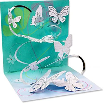 Amazon Get Well Greeting Card Floating Butterflies Pop Up