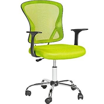 TecTake Silla de oficina giratoria sillón ejecutivo silla de escritorio - disponible en diferentes colores - (Verde | No. 401187): Amazon.es: Hogar