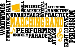 Marching Band Words Vinyl Decal Sticker - Car Truck Van SUV Window Wall Cup Laptop - One 7 Inch Decal - MKS1400