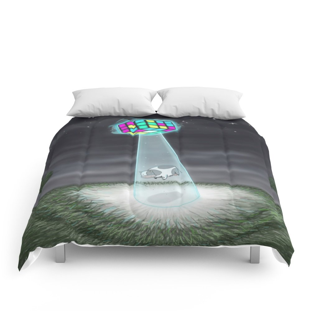 Society6 Rubix Cow Comforters Queen: 88'' x 88''