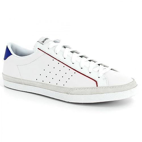LE COQ SPORTIF-zapatillas LE COQ SPORTIF Saga Comp Lea, Blanco (blanco), 43: Amazon.es: Zapatos y complementos