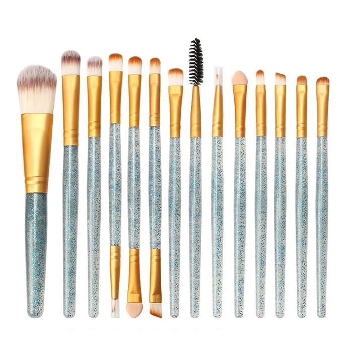 Amazon.com: Sunbona - Juego de brochas de maquillaje con ...