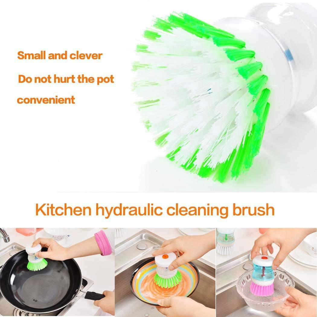 IEnkidu Palm Brush Creative Practical Kitchen Tools Automatically Add Liquid Grips Soap Cleaning Brush Brushes