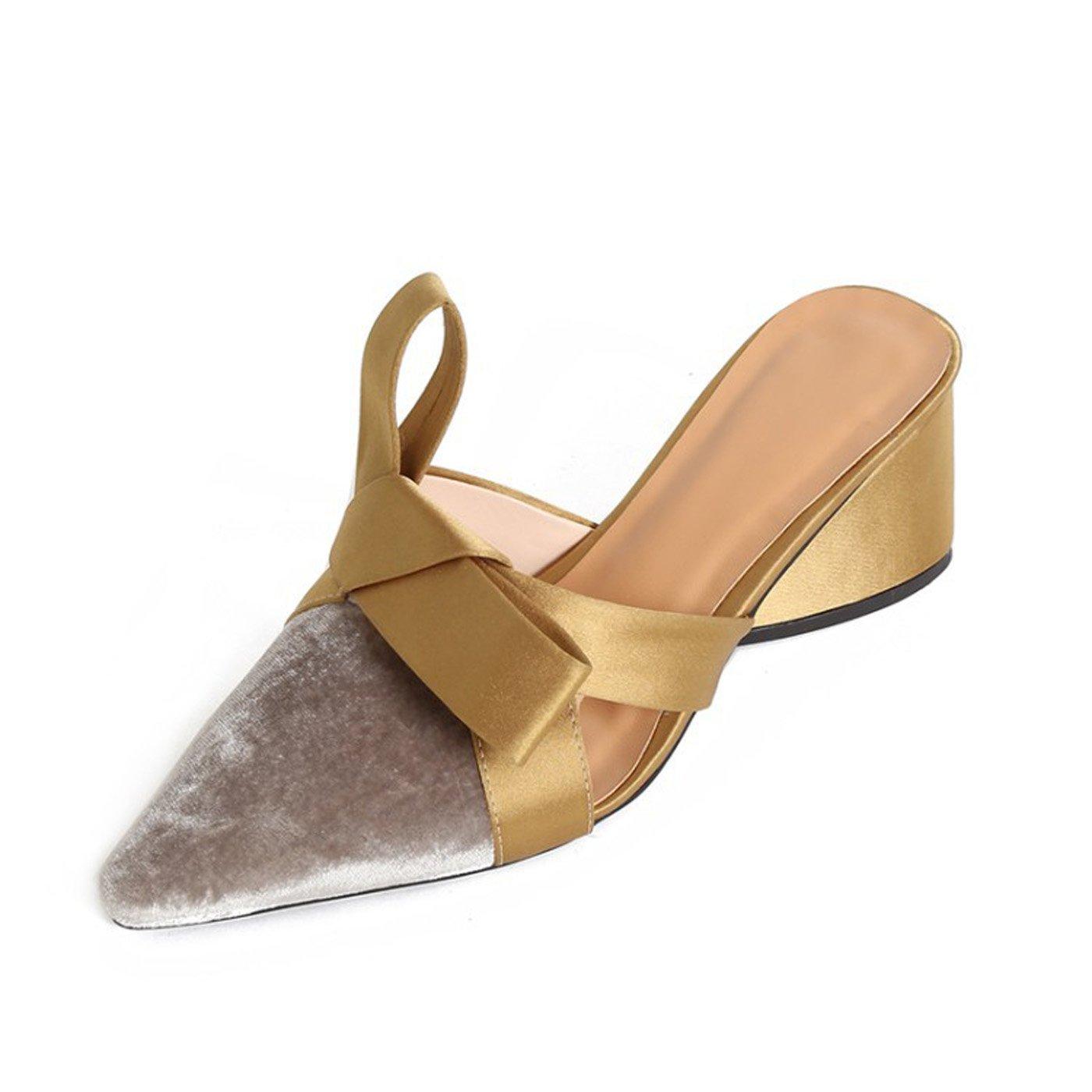 ZXMXY Damenschuhe Comfort Chunky Heel Sandaleen Freizeitschuhe für Gold Silber Frühling Sommer Herbst Sandaleen im Freien