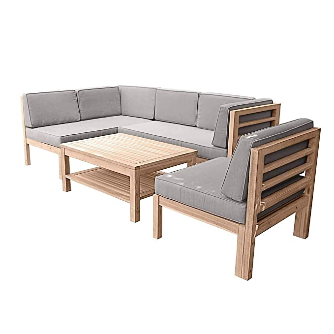 Amazon.de: Gartenmöbel-Set variabel platzierbar 2 Sitzelemente 1 ...