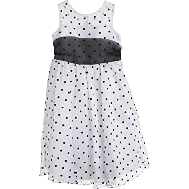 Kids Dream Girls Organza Party Dress B/W 7/8