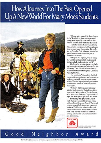1991 State Farm Insurance  Mary Moe  Journey  State Farm Insurance Print Ad