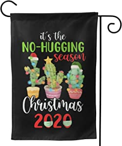 "Fejarx Cactus Christmas 2020 Christmas Garden Flag Double Sided Small Winter Garden Flag 28""X40"""