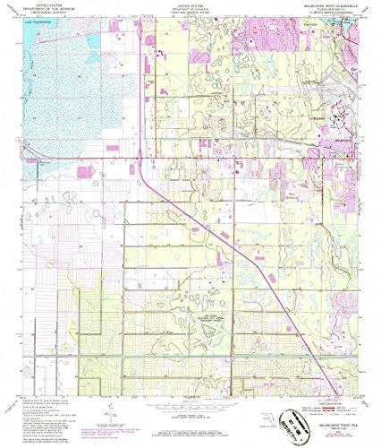 Florida Maps | 1949 West Melbourne, FL USGS Historical Topographic Map |Fine Art Cartography Reproduction - Fl West Melbourne