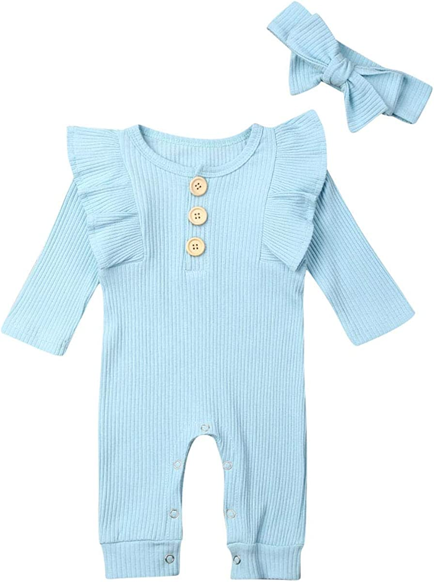 HZYKOK Baby Girl Boy Romper Summer Bodysuit Onesies Cotton One Piece Jumpsuit Toddler Infant Unisex Outfits Clothes