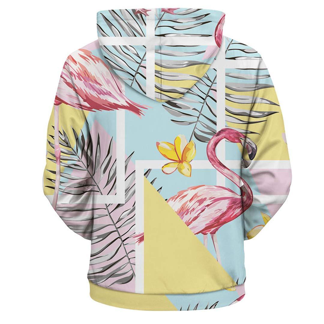 Floral Hooded Unisex 3D Print Flower Palm Hip Hop Casual Autumn//Winter Hoody