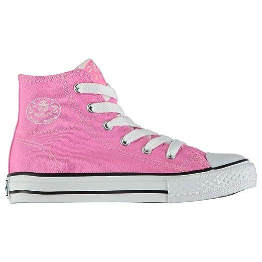 abb8b215c9d81 Amazon.com: Dunlop Kids' Canvas High-Top Sneakers: Clothing