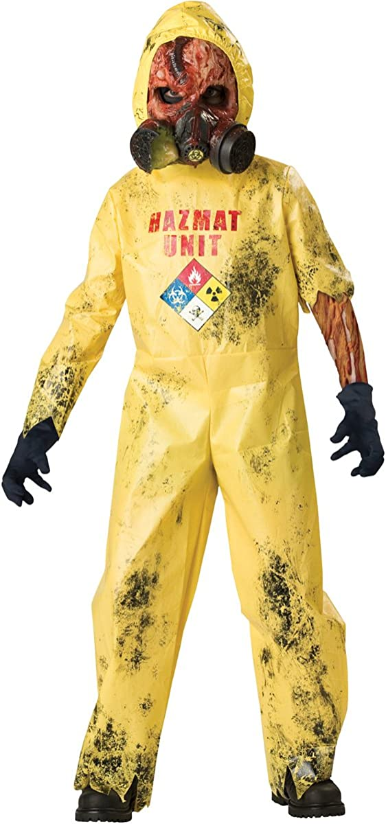 Yellow Hoodie /& Footie All-In-One BodySuit Halloween Chemical Biohazard Costume